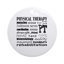 Cute Physical therapist Round Ornament