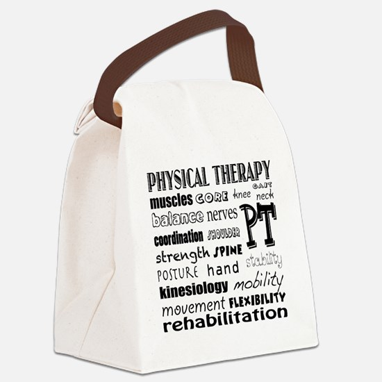 Cute Physical therapy Canvas Lunch Bag