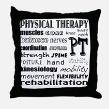Cute Physical therapy Throw Pillow