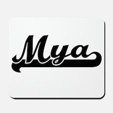 Mya Classic Retro Name Design Mousepad