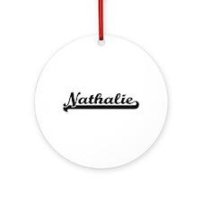 Nathalie Classic Retro Name Desig Ornament (Round)