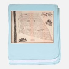 Vintage Map of Marthas Vineyard (1873 baby blanket