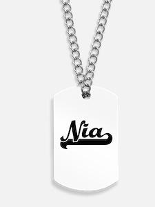 Nia Classic Retro Name Design Dog Tags