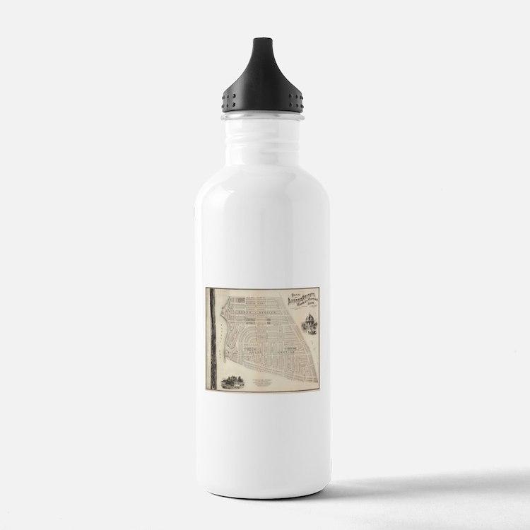 Vintage Map of Marthas Water Bottle