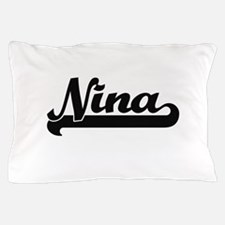Nina Classic Retro Name Design Pillow Case