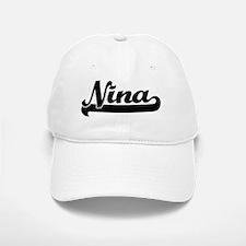 Nina Classic Retro Name Design Baseball Baseball Cap