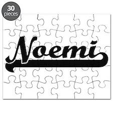 Noemi Classic Retro Name Design Puzzle