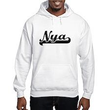 Nya Classic Retro Name Design Hoodie Sweatshirt