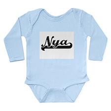 Nya Classic Retro Name Design Body Suit