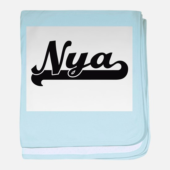 Nya Classic Retro Name Design baby blanket