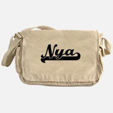 Nya Classic Retro Name Design Messenger Bag