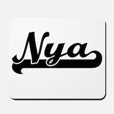 Nya Classic Retro Name Design Mousepad