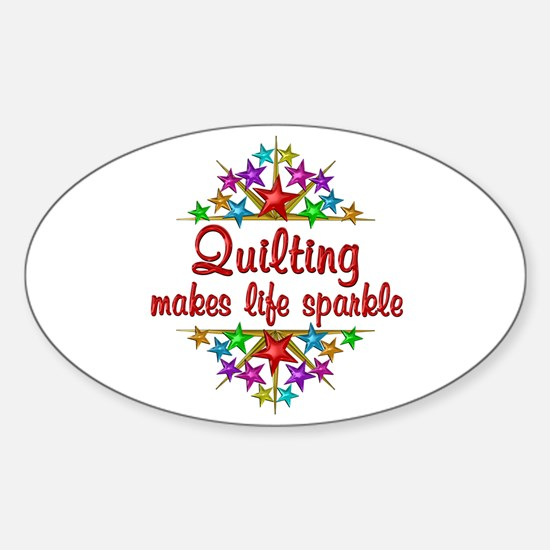 Quilting Sparkles Sticker (Oval)