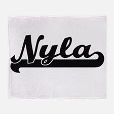 Nyla Classic Retro Name Design Throw Blanket