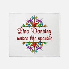 Line Dancing Sparkles Throw Blanket