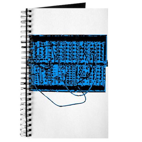 Modular Synth Blue/Black Journal