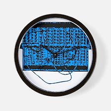 Modular Synth Blue/Black Wall Clock