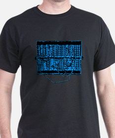 Modular Synth Blue/Black T-Shirt