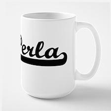 Perla Classic Retro Name Design Mugs