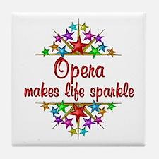 Opera Sparkles Tile Coaster