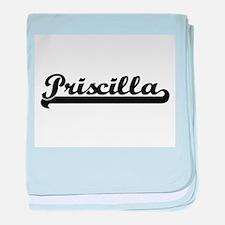 Priscilla Classic Retro Name Design baby blanket
