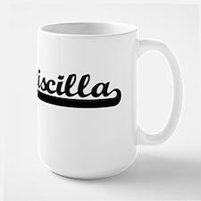 Priscilla Classic Retro Name Design Mugs