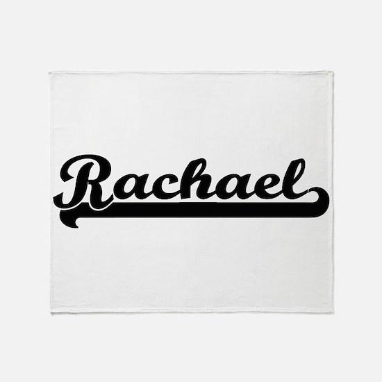 Rachael Classic Retro Name Design Throw Blanket