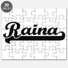 Raina Classic Retro Name Design Puzzle