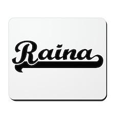 Raina Classic Retro Name Design Mousepad