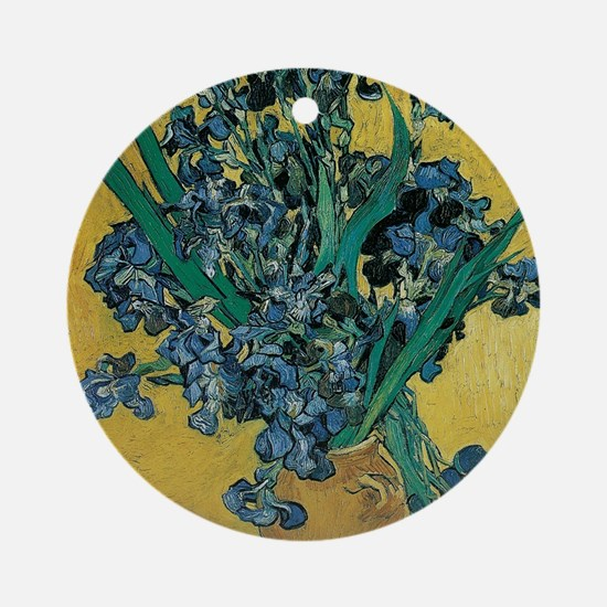 Irises by Vincent van Gogh Round Ornament