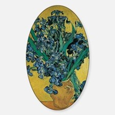 Irises by Vincent van Gogh Sticker (Oval)