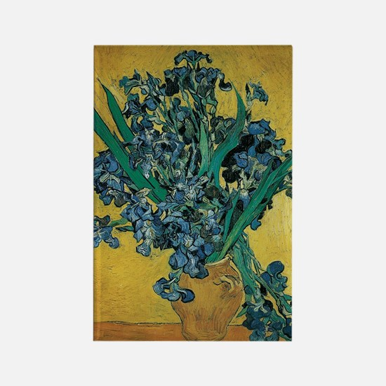 Irises by Vincent van Gogh Rectangle Magnet