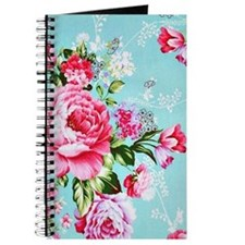 Beautiful Vintage Chic Cottage Roses Journal
