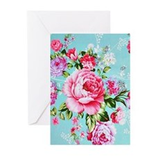 Beautiful Vintage Chic Cottage Rose Greeting Cards