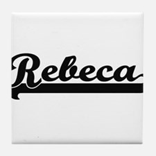 Rebeca Classic Retro Name Design Tile Coaster