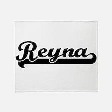 Reyna Classic Retro Name Design Throw Blanket
