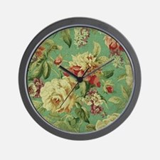 Stunning chic vintage cream roses Wall Clock