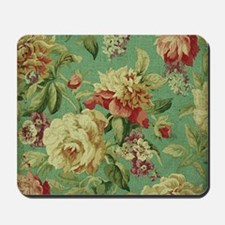 Stunning chic vintage cream roses Mousepad