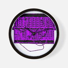 Modular Synth Purple/Black Wall Clock