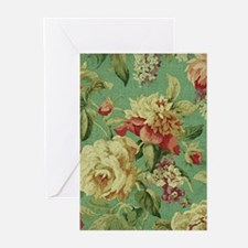Stunning chic vintage cream roses Greeting Cards