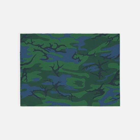 Twilight Green Camo 5'x7'Area Rug