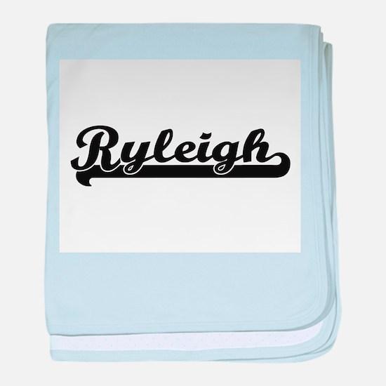 Ryleigh Classic Retro Name Design baby blanket