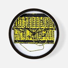 Modular Synth Yellow/Black Wall Clock