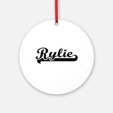 Rylie Classic Retro Name Design Ornament (Round)