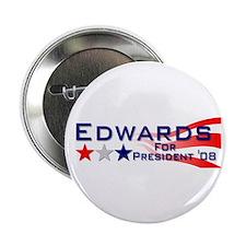 """::: John Edwards - Stripes ::: 2.25"""" Button (100 p"""
