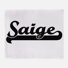 Saige Classic Retro Name Design Throw Blanket
