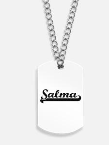 Salma Classic Retro Name Design Dog Tags