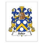 Solier Family Crest Small Poster