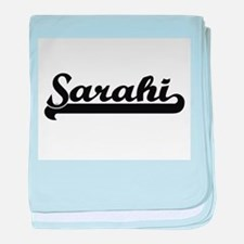 Sarahi Classic Retro Name Design baby blanket