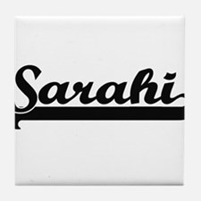 Sarahi Classic Retro Name Design Tile Coaster